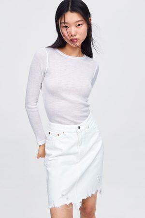 Zara Falda mini white