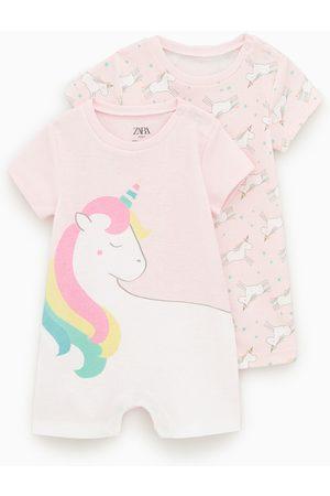 Zara Pack dos pijamas unicornios