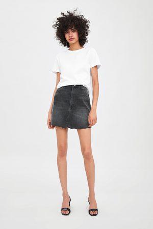 Zara Mujer Minifaldas - Falda mini edited denim