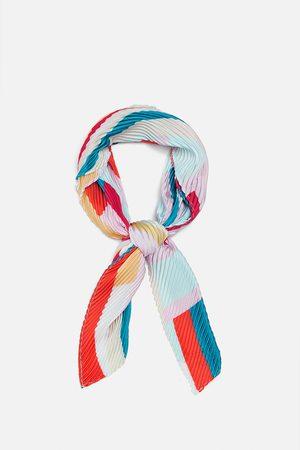 Zara Mujer Bufandas y Pañuelos - Pañuelo plisado estampado
