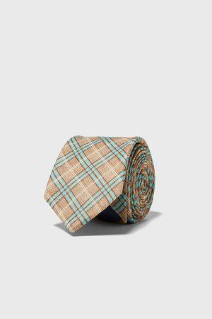 Zara Hombre Corbatas y corbatín - Corbata ancha cuadros
