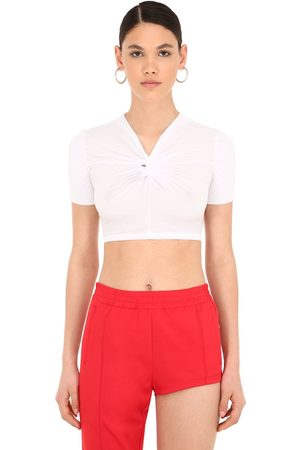 pushBUTTON Top Cropped De Jersey Stretch