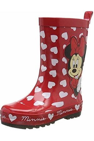 Disney Minnie Mouse Girls Kids Rainboots Boots, Botas de Agua para Niñas, Red