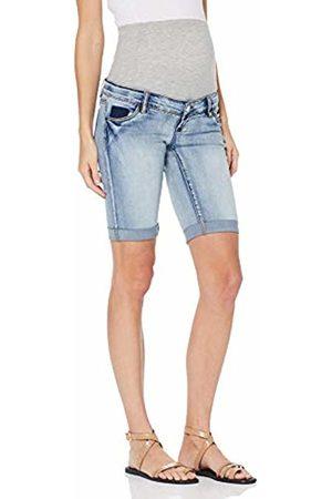 Mama Licious Mlmarbella Slim Bermuda Shorts A, Pantalon Corto Premama para Mujer, Light Blue Denim