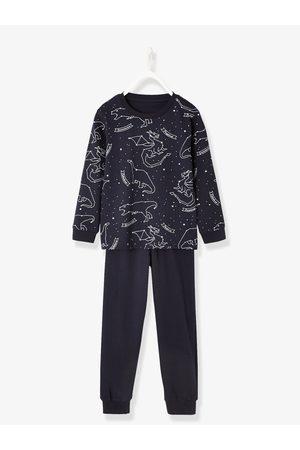 1f6d3d26ae Vertbaudet Pijama niño estampado fluorescente oscuro liso con motivos .