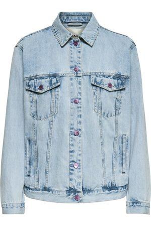 Only Printed Denim Jacket Women Blue