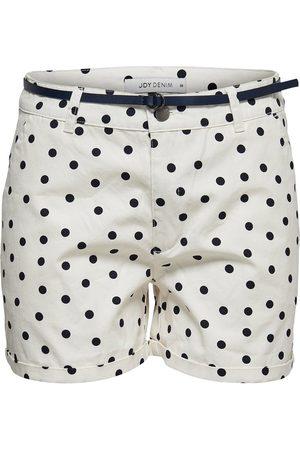 Only Printed Chino Shorts Women White
