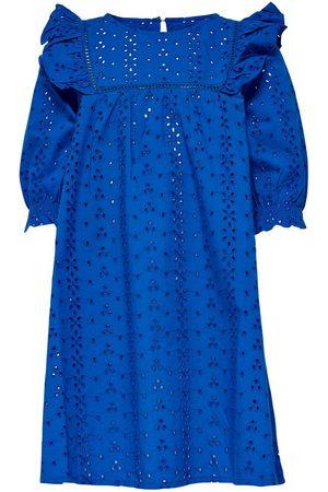 Only Kids Frill Short Dress Women Blue