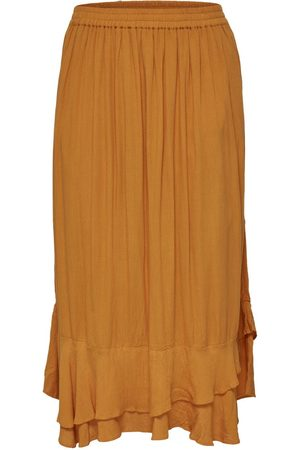 Only Midi Skirt Women Orange