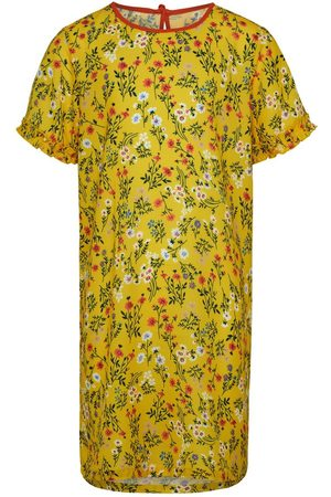 Only Kids Printed Short Sleeved Dress Women Yellow