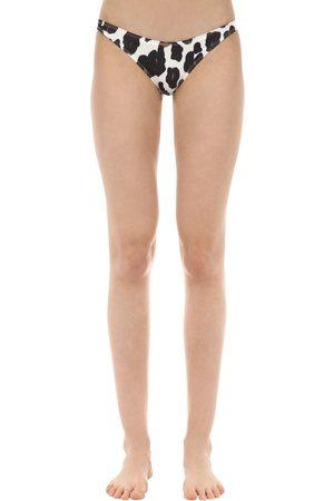 Solid Braguitas De Bikini Con Estampado