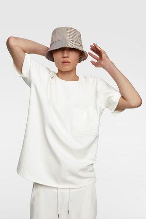 Zara Camiseta estructura denim