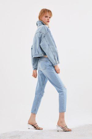 Zara Jeans mom fit rotos