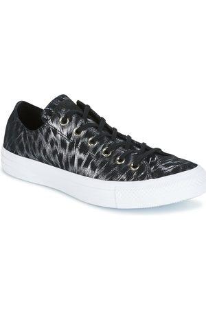 Converse Zapatillas CHUCK TAYLOR ALL STAR SHIMMER SUEDE OX BLACK/BLACK/WHITE para mujer