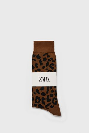 Zara Calcetín jacquard animal