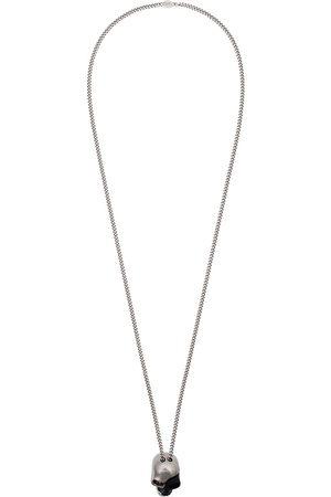 Alexander McQueen Collar con detalle de calavera en plata