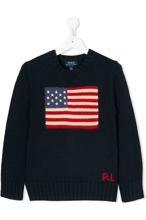 Ralph Lauren Jersey con motivo de bandera
