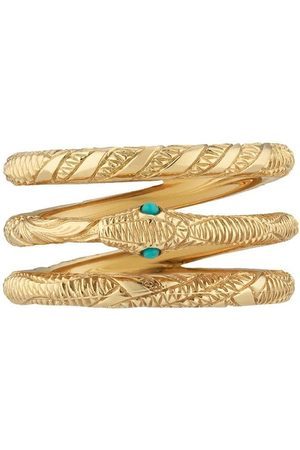 Gucci Anillo Three Band Ouroboros