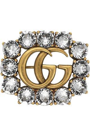 Gucci Broche con cristales Double G