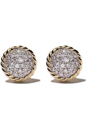 David Yurman Pendientes Petite Pavé con diamantes en oro amarillo de 18kt