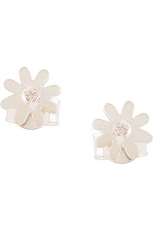 Karen Walker Pendientes con diseño floral