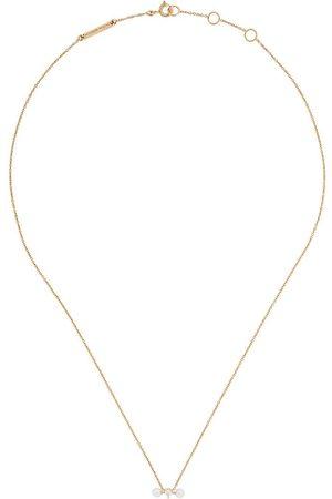 DELFINA DELETTREZ Collar Two In One en oro y oro blanco 18kt con diamantes y perla