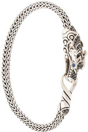 John Hardy Pulsera Legends Naga pequeña en plata de ley con zafiros y espinelas