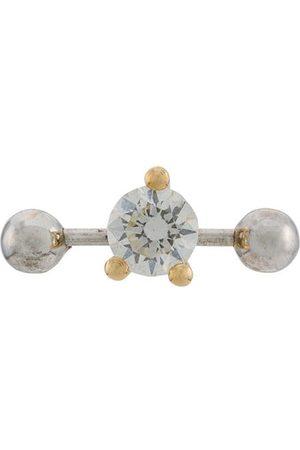 DELFINA DELETTREZ Mujer Pendientes - Pendiente Two In One en oro y oro blanco 18kt con diamantes