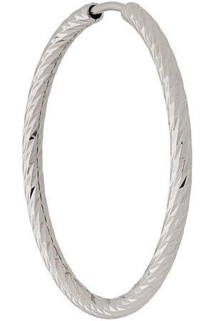 Maria Black Pendiente Alba con aro de 25 mm en oro blanco de 14 kt