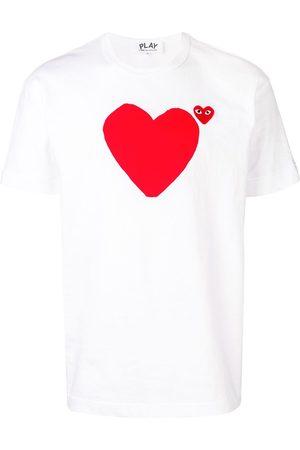 Comme des Garçons Camiseta con corazones estampados