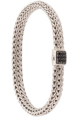 John Hardy Pulsera Classic Chain pequeña en plata de ley con zafiro