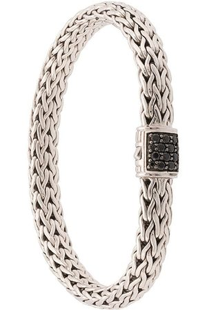 John Hardy Pulsera Classic Chain mediana en plata de ley con zafiros