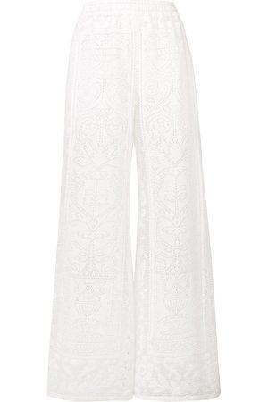 Dolce & Gabbana Pantalones palazo de ganchillo