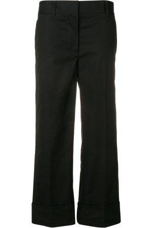Prada Mujer Pantalones capri y midi - Pantalones capri de popelina