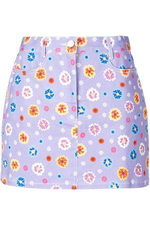 LHD Mujer Estampadas - Falda acampanada con estampado floral