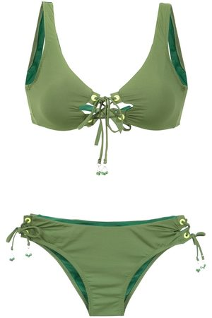 AMIR SLAMA Bikini con detalles de cordones