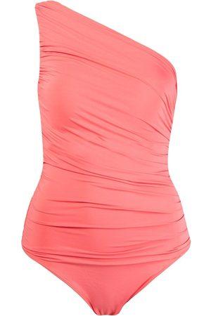 Brigitte Bañador drapeado con un solo hombro