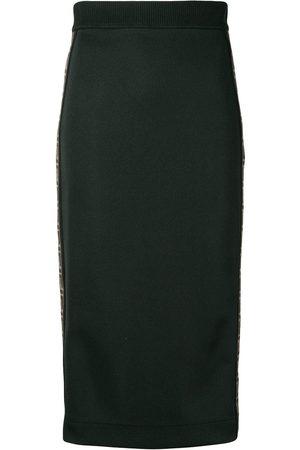 Fendi Mujer De tubo - Falda ajustada con banda del logo