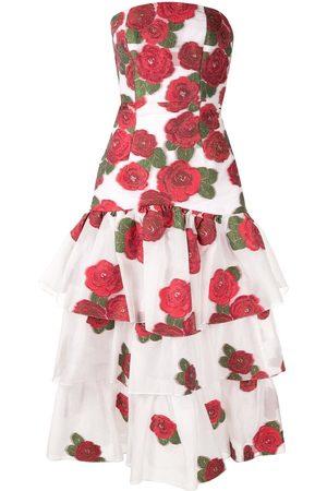 Bambah Mujer Cóctel - Vestido con motivo de rosas y volantes