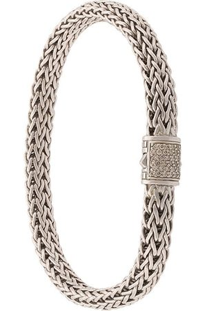 John Hardy Pulsera Classic Chain pequeña en plata de ley con diamantes