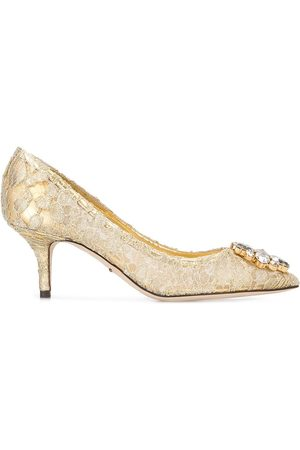 "Dolce & Gabbana Zapatos de tacón con encaje ""Bellucci"""