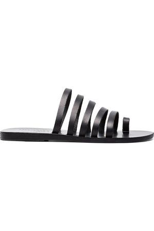 Ancient Greek Sandals Sandalias Black Niki