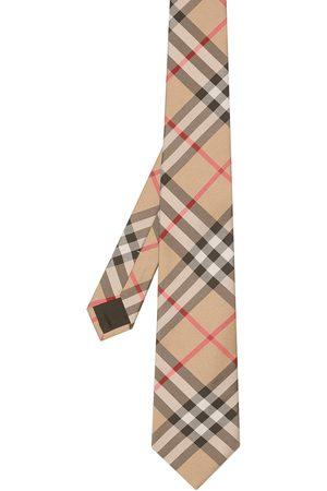 Burberry Corbata de cuadros vintage con corte moderno