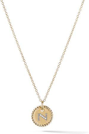 David Yurman Collar Cable Collectibles con colgante con inicial N en oro amarillo de 18kt con diamantes