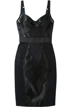 Dolce & Gabbana Vestido con bustier a paneles de encaje