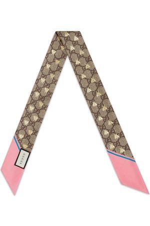 Gucci Mujer Bufandas y Pañuelos - Pañuelo de cuello con motivo GG y de abejas