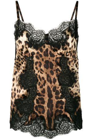 Dolce & Gabbana Mujer Camisolas - Camisola con estampado de leopardo