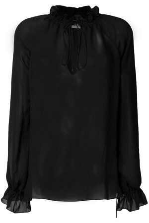 Saint Laurent Blusa Pirate semitransparente