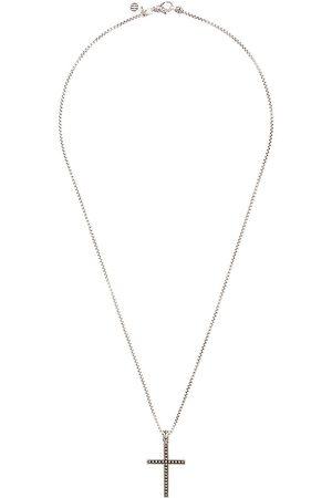 John Hardy Collar Classic Chain con colgante de cruz y motivo Jawan en plata de ley