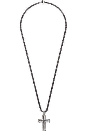David Yurman Colgante Chevron Cross con diamantes negros